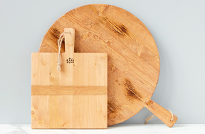 Square Pine Cheeseboard, Small