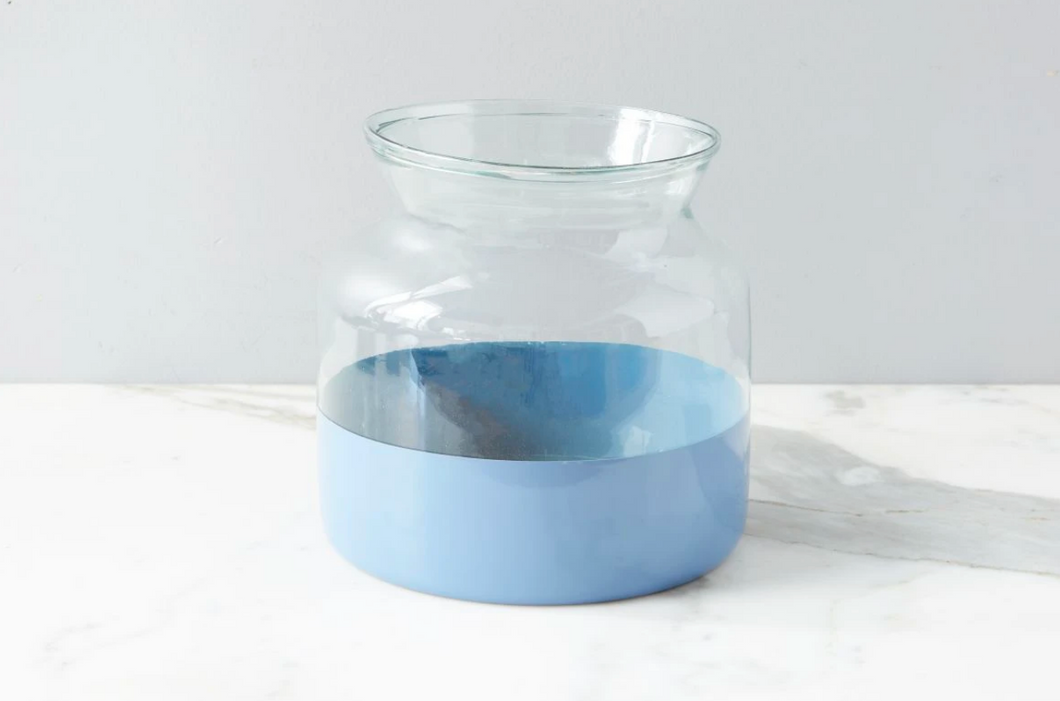 Denim Colorblock Mason Jar, Medium