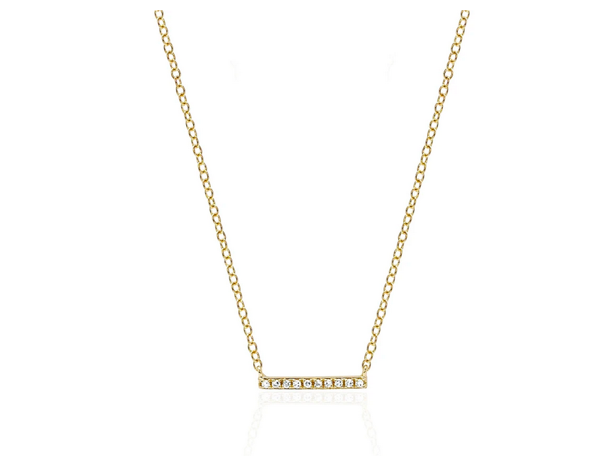Mini Diamond Bar Necklace