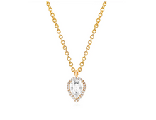 Load image into Gallery viewer, Diamond & White Topaz Teardrop Necklace