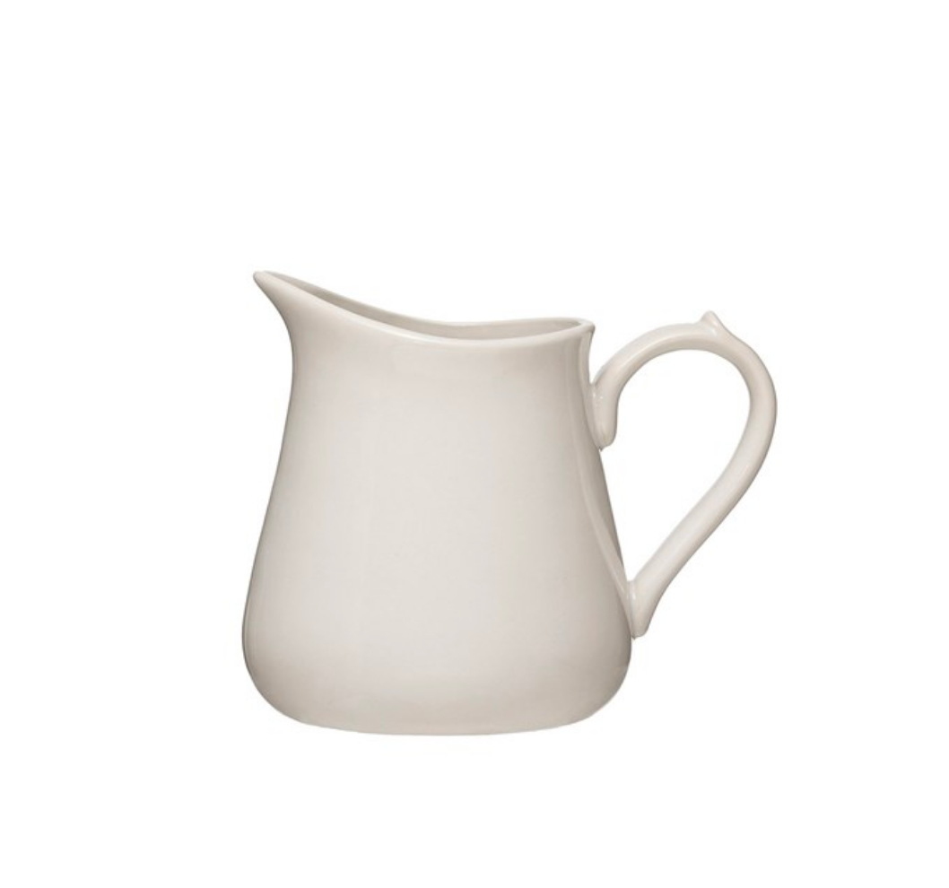 Antique White Pitcher, 24oz
