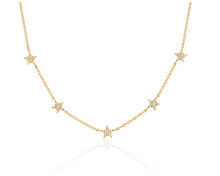 Load image into Gallery viewer, 5 Star Diamond Necklace