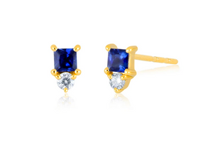 Mini Sapphire Stud Earrings