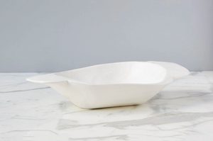 Small White Vintage Dough Bowl