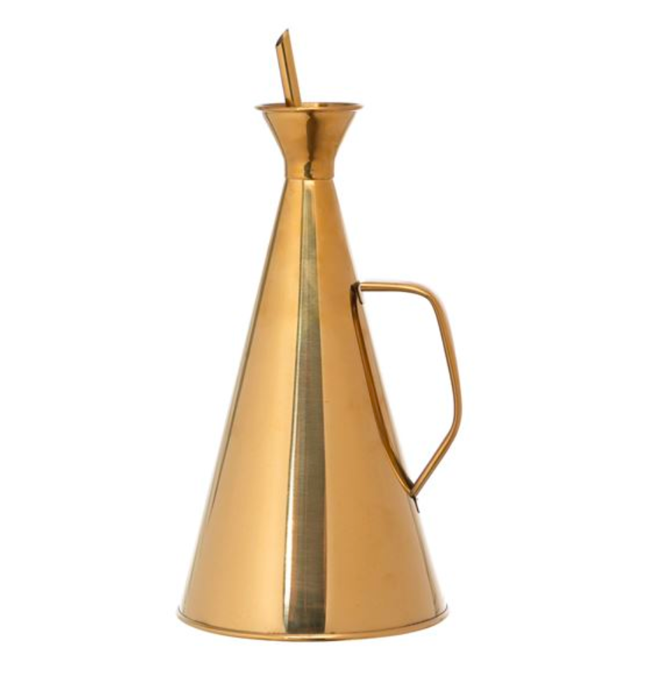 Gold Oil Cruet, 32oz
