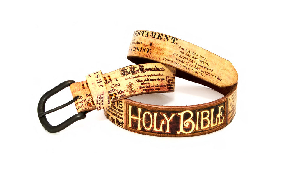 "The ""Holy Bible"" Tribute Belt"