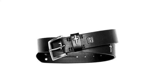 Inlaid Multi-Cross Jean Belt
