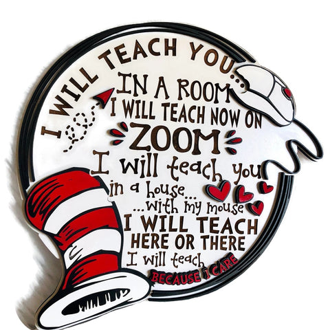 Virtual Learning Teacher wall art