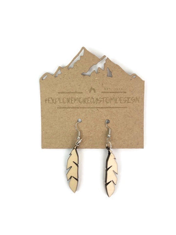 Basswood Feather earrings