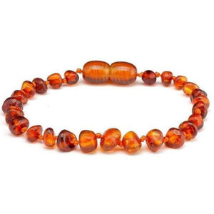Baltic Amber (Round) Baby Anklet - from Kicks to Kids