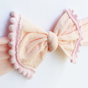Headband - Pom Pom - Pink - from Kicks to Kids