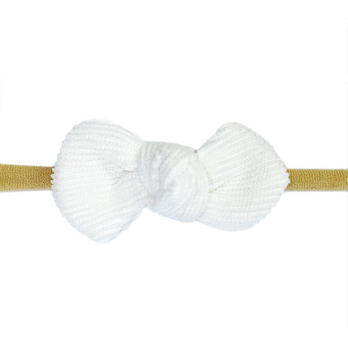 Corduroy Knot Headband - White - from Kicks to Kids