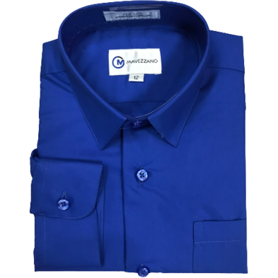 Modern Dress Shirt Royal Blue - from Kicks to Kids