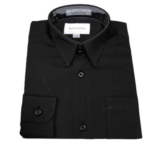 Classic Twill Dress Shirt Black - from Kicks to Kids