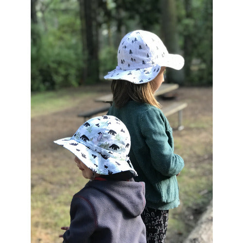 Cotton Floppy Hat - Bear - from Kicks to Kids