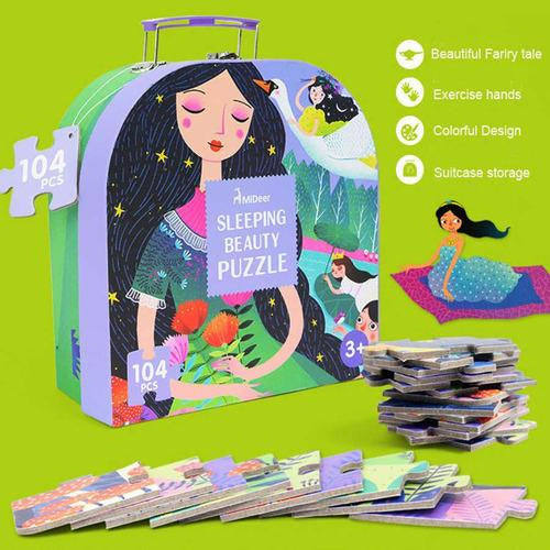 Gift Box Suitcase Puzzles (104pc) - from Kicks to Kids