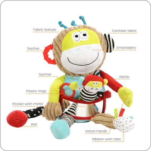 Charlie The Play & Learn Monkey - from Kicks to Kids