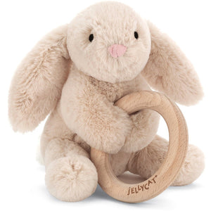 Shooshu Bunny Wooden Ring Toy - from Kicks to Kids