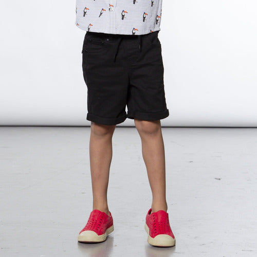 Black Twill Bermuda Shorts - from Kicks to Kids