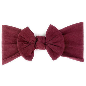 Headband - Nylon Bow - Burgundy - from Kicks to Kids