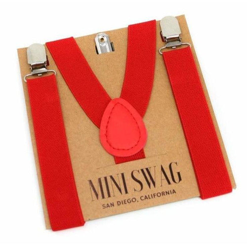 Adjustable Boy's Suspenders Red - from Kicks to Kids