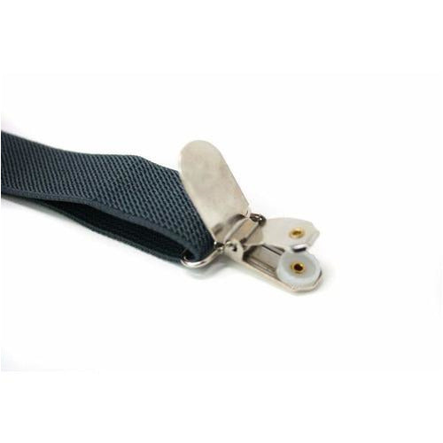 Adjustable Boy's Suspenders Gray - from Kicks to Kids