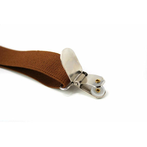 Adjustable Boy's Suspenders Coffee Brown - from Kicks to Kids