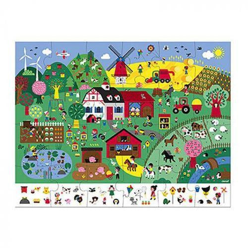 Observation Puzzle (24 pc) - Farm - from Kicks to Kids