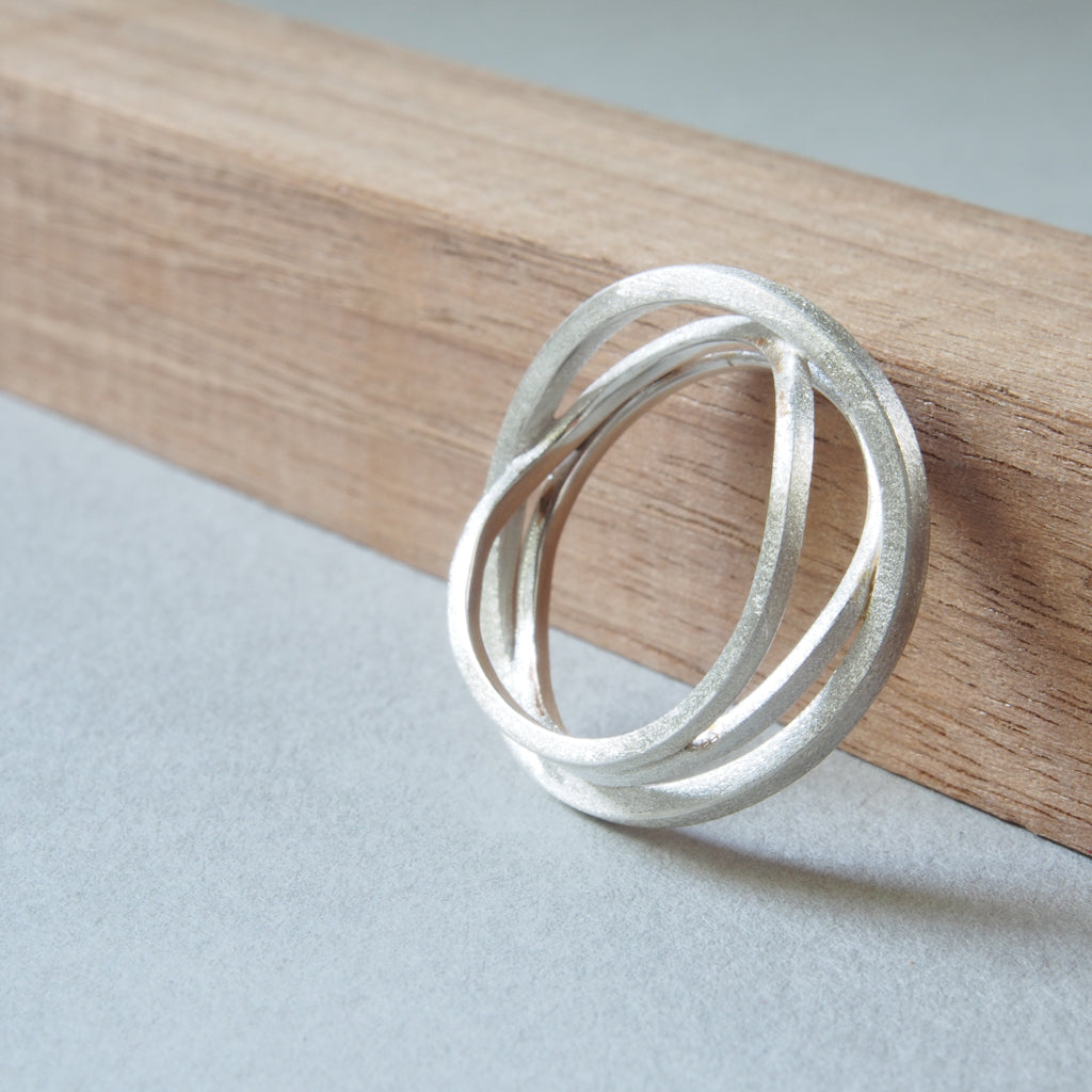 Stages ring in sterling silver