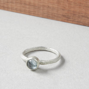 Ashes ring with cabochon. Silver ring with real ashes.