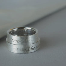 Load image into Gallery viewer, Ash Wedding bands in silver. Set of two silver rings with ashes.