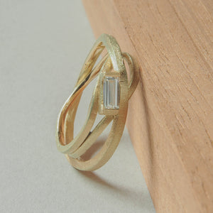 Ring Stages with diamond in 14k gold