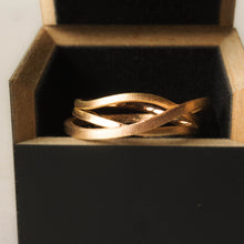 Load image into Gallery viewer, Stages ring. Rose gold geometric ring for women