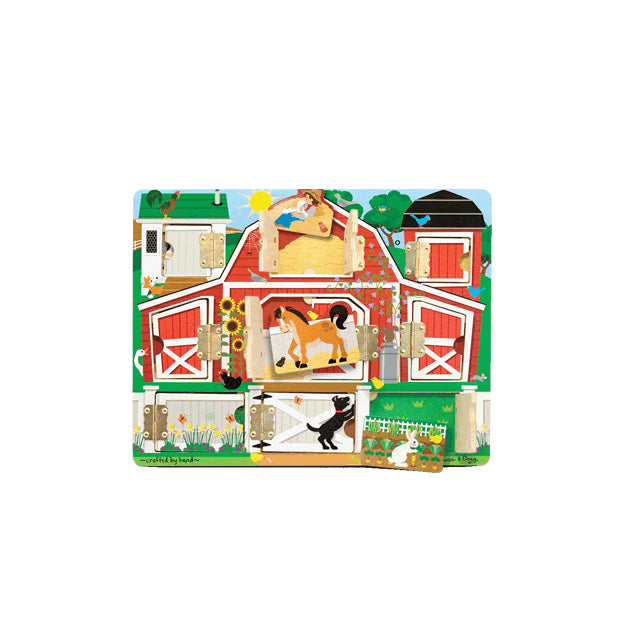 Melissa & Doug Magnetic Hide and Seek Farm Board