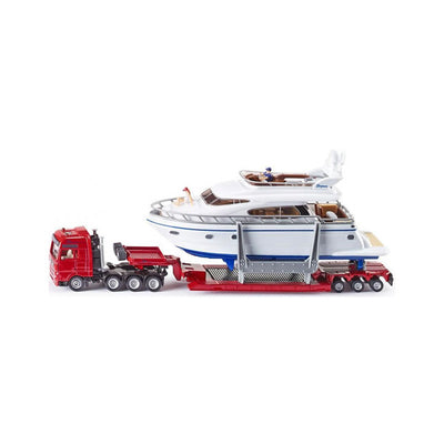 Siku Heavy Haulage Transporter with Yacht 1:87 Scale Model