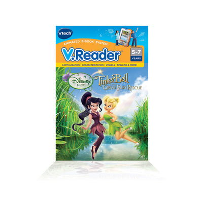 VTech V.Reader Animated E-Book Cartridge - Fairies: Tinker Bell and the Great Fairy Rescue