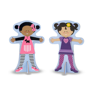 Melissa & Doug Tops and Tights Magnetic Dress Up Set