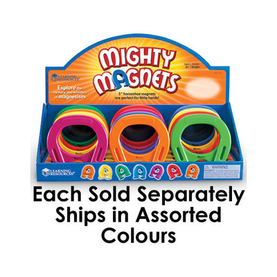 Learning Resources Horseshoe 5'' Mighty Magnet - Assorted