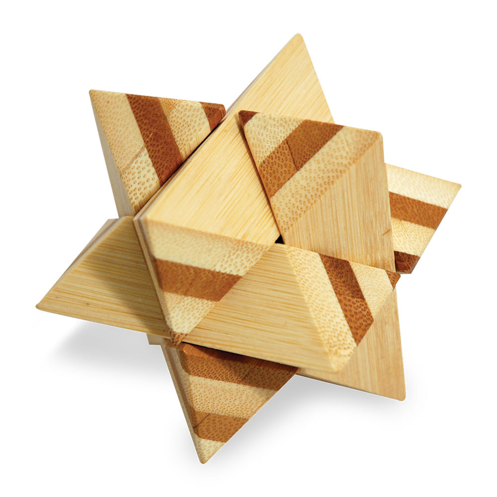 3-D Bamboo Star Puzzle