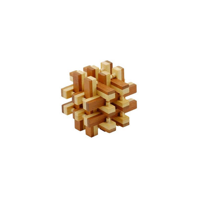 3-D Bamboo Lock-Up Puzzle