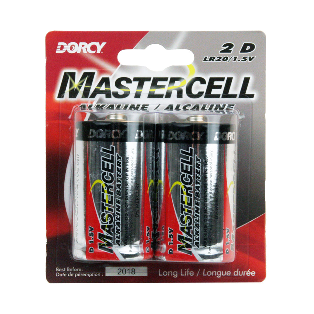 Mastercell 2 D Batteries