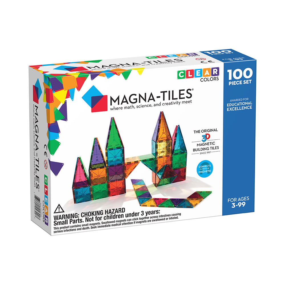 Magna-Tiles Clear Colours 100 Pack