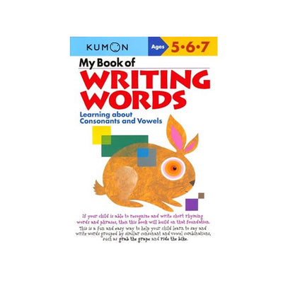 Kumon My Book of Writing Words Workbook