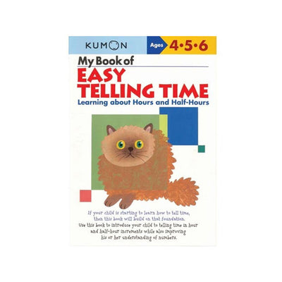 Kumon My Book of Easy Time Telling Workbook