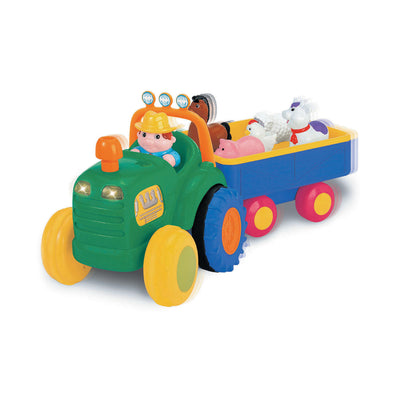 Kiddieland Farm Animal Tractor and Trailer with Sounds