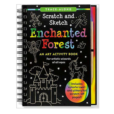 Enchanted Forest Scratch and Sketch Activity Book