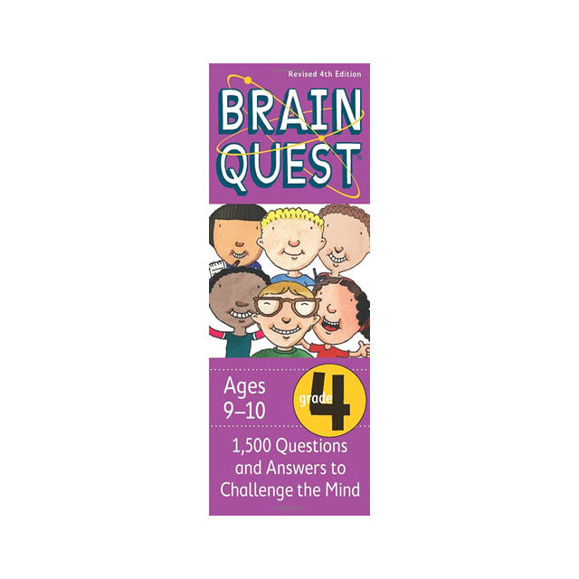 Brain Quest Grade 4 Revised 4th Edition 1,500 Questions and Answers to Challenge the Mind Deck