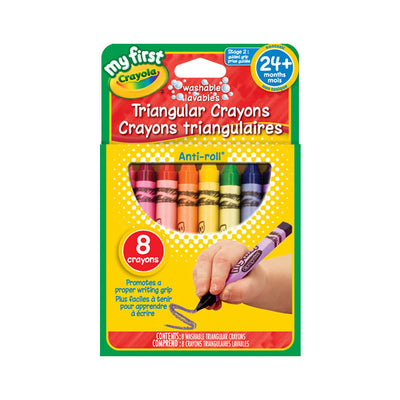Crayola My First Triangular Crayons 8 Pack