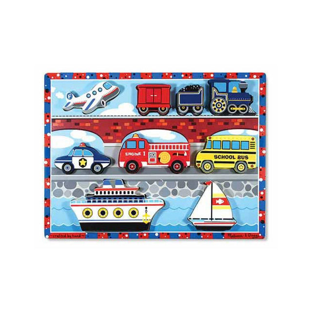 Melissa & Doug Vehicles 9 Piece Chunky Puzzle
