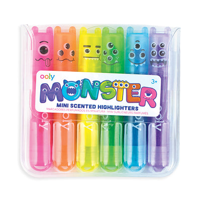 Mini Monster Scented Markers 6 Pack